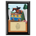Equitation Full Color Horse Show Award Plaque - Black