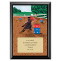 Barrel Racing Full Color Plaque - Black