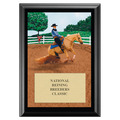 Reining Full Color Horse Show Award Plaque - Black
