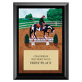 Western Trail Full Color Horse Show Award Plaque - Black
