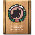 Full Color Red Alder and Walnut Award Plaque