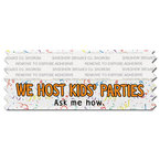 Multicolor Horizontal Tape Top Award Ribbon