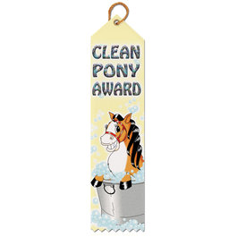 Clean Pony Award Ribbon