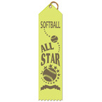 All Star Point Top Softball Ribbons