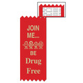 Join Me Be Drug Free Red Ribbon