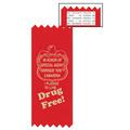 I Pledge to Live Drug Free Red Ribbon