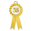 Littleton Rosette Award Ribbon w/ Button Center