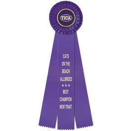 Chester Cat Show Rosette Award Ribbon