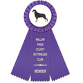 Mere Dog Show Rosette Award Ribbon