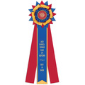 Amesbury Dog Show Rosette Award Ribbon