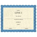 Full Color Custom School Certificates - Classic Blue Design