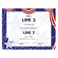 Custom School Award Certificates - Patriotic Design