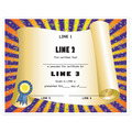 Custom School Award Certificates - Scroll Design