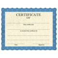 Full Color Stock School Certificates - Classic Blue Design