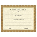 Full Color Stock School Certificates - Classic Gold Design
