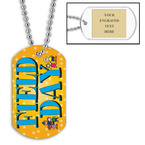 Personalized Field Day Dog Tag w/ Engraved Plate