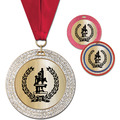 GEM Metallic School Award Medal w/ Grosgrain Neck Ribbon