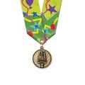 CX School Award Medal w/ Multicolor Neck Ribbon