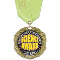 XBX Full Color School Award Medal w/ Satin Neck Ribbon