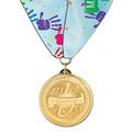 BL School Award Medal w/ Custom Millennium Neck Ribbon