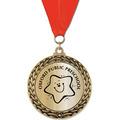 GFL Metallic School Award Medal w/ Grosgrain Neck Ribbon