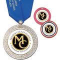 GEM Full Color School Award Medal w/ Satin Neck Ribbon