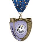 MS14 Mega Shield School Medals w/ Millennium Neck Ribbon