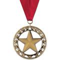 Rising Star School Award Medal with Grosgrain Neck Ribbon