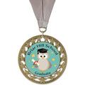 RS14 Full Color School Award Medal w/ Grosgrain Neck Ribbon