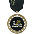RS14 Full Color School Award Medal w/ Satin Neck Ribbon