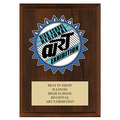 Custom  Full Color School Award Plaque - Cherry Finish