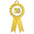 Littleton School Rosette Award Ribbon w/ Stock Button Center