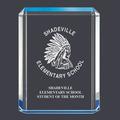 Blue Shimmer Acrylic School Award Trophy