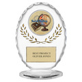 "6-3/8"" Free Standing Oval School Award Trophy"