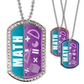 Full Color GEM Math Dog Tag