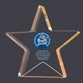 Full Color Gold Star Shimmer Acrylic Sports Award Trophy