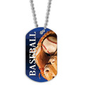 Full Color Baseball Dog Tag