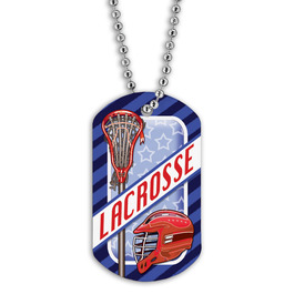 Full Color Lacrosse Helmet Dog Tag