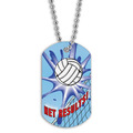 Full Color Volleyball Net Dog Tag