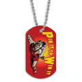 Full Color Wrestling Pin It Dog Tag