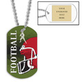 Personalized Football Helmet Dog Tag