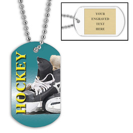 Personalized Hockey Skates Dog Tag