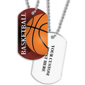 Personalized Basketball Dog Tags w/ Print on Back