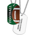 Personalized Football Dog Tags w/ Print on Back