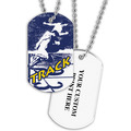 Personalized Track Dog Tags w/ Print on Back