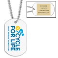 Custom Sports Dog Tags w/ Engraved Plate