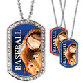 Full Color Baseball GEM Dog Tags