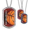 Full Color Basketball GEM Dog Tags