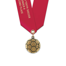 CX Sports Award Medal w/ Satin Neck Ribbon