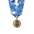 CX Sports Award Medal w/ Multicolor Neck Ribbon